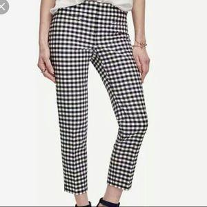 Banana Republic checkered black and white pants